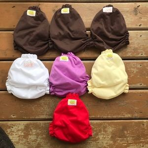 Lot of 7 AMP Pocket Diapers - Size XL 25-50lbs